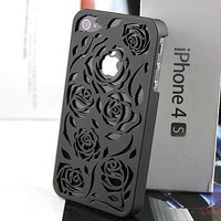 Rose Cut Out Iphone 4 Case (black) on Luulla