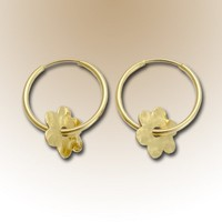 Gold hoops 14k gold filled flower hoops Field of by artisanfield