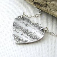 Sheet Music Heart Jewelry In My Heart Necklace by JenniferCasady
