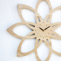 modern sunburst clock by uncommon
