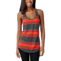 Zine Girls Fiery Red &amp; Charcoal Racerback Tank Top