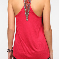 Urban Outfitters - Sparkle &amp; Fade Bead-Embellished Racerback Tank Top