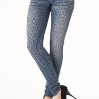 Almost Famous Leopard-Print Skinny Jean at Alloy