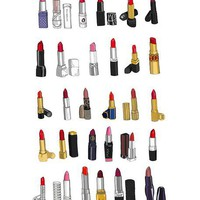 30 Lipsticks... Mini Poster
