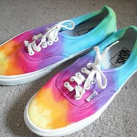 Tie dye Vans shoes reserved for Abby by DoYouDreamOutLoud on Etsy