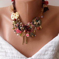 Unique and Colorful Necklace - Speacial Handmade Design - Summer Collection