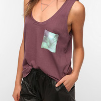 Truly Madly Deeply Contrast Slouch Pocket Tank Top