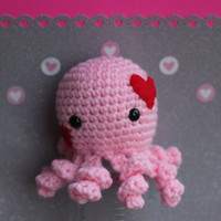 Valentine's Day Gift Octopus Plush Crocheted by alyssacritters