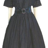 Black American Design Vintage 50s Style 80s Dress