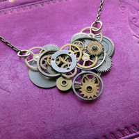 Clockwork Heart Pendant Heart Valentine's Day by amechanicalmind