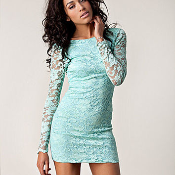 Lace Low Back Dress, Lili London