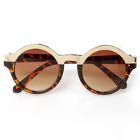Specs Mix Gold and Tortoise Sunglasses