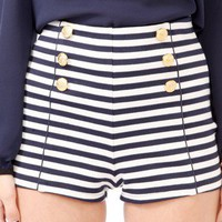 Striped Hot Pants
