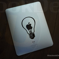 Lightbulb Ipad Decal sticker  Ipad / Ipad2 by macbookdecal4u