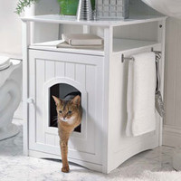 Kitty Washroom Cabinet, Litter Box Cover | Solutions