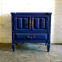 Indigo Blue Nightstand