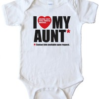 I LOVE MY AUNT - CONTACT INFO AVAILABLE UPON REQUEST - BABY ONESIELight Blue (24 MONTH)