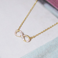 Infinity Necklace In Gold, Everyday.. on Luulla