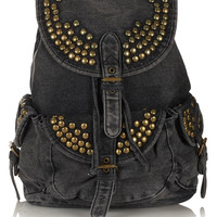 Studded Denim Backpack - Bags &amp; Wallets - Accessories - Topshop USA