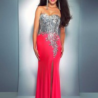 Cassandra Stone Dress 85152A at Peaches Boutique