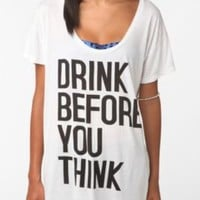 UrbanOutfitters.com > Drink Before U Think Oversized Tee