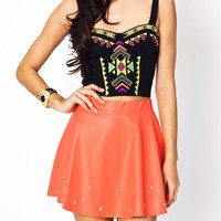 tribal-embroidered-bustier BLACK - GoJane.com
