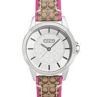 COACH CLASSIC SIGNATURE STRAP WATCH - Coach Watches - Handbags & Accessories - Macy's