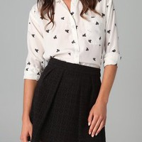 Juicy Couture Juicy Bow Print Blouse