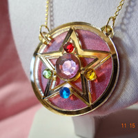 Crystal Star Locket Sailor Moon Necklace/Pendant Laser Cut (MIRROR) Acrylic