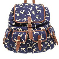 ASOS Bird Print Rucksack at asos.com