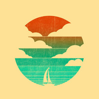 Go West (sail away in my boat) Art Print by Budi Satria Kwan | Society6