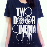 Two Door Cinema Club Logo Punk rock band Music Unisex Art tee t-shirt Sz.S,M,L,XL