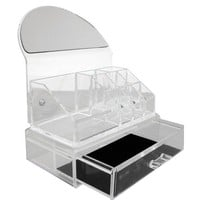 Amazon.com: Rucci Or104 Clear Acryllic Cosmetic Organizer with Mirror and Tray: Beauty