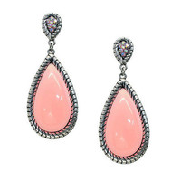 Pree Brulee - Jasper Castle Earrings - Pink