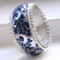 $336.97 Frilly Silver Sakura Ring from Barbara Macleod Jewellery | Bouf