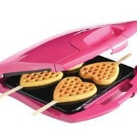 Amazon.com: Babycakes Nonstick Waffle Maker Makes 4 Heart Waffles on Sticks: Kitchen & Dining