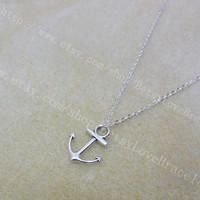 Anchor necklace - little anchor necklace in silver