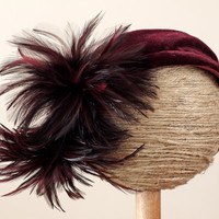 1940s Feathered Hat / 40s Plumed Hat // The Going Hollywood Hat