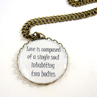 Aristotle Quote Pendant Love is composed of a by MistyAurora