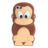 Cute Cartoon Monkey Pattern Case for iPhone 5