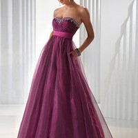Special Design Empire waist Grape Strapless New Style Sweetheart A-line floor length sequin Prom Dress