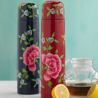 Flowered Thermos - VivaTerra