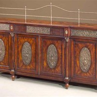Elite furniture. Mahogany dining room breakfront.