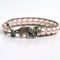 Lucky Elephant Pearl Wrap Bracelet,.. on Luulla