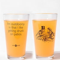 Urban Outfitters - I'm Outdoorsy Pint Glass