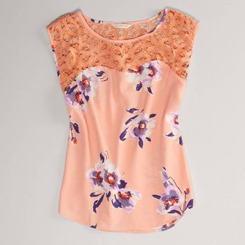 AEO Women's Floral Lace Blouse