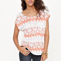 Kirra Short Sleeve Lattice Pocket Tee at PacSun.com