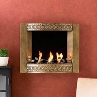 Antique Gold Wall Fireplace