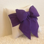Purple and White Bow Accent  Throw Pillow  12 x by pillowsbycindee