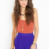 Petal Shorts - Royal Blue in  Clothes at Nasty Gal